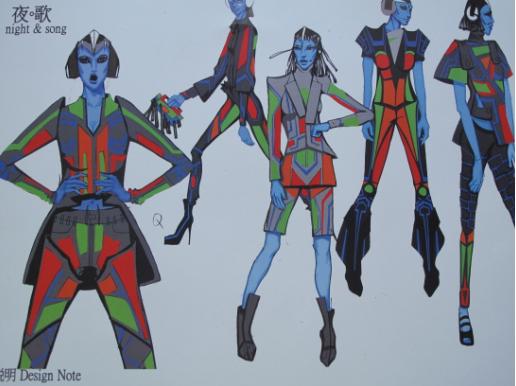 嘻哈服装手绘效果图