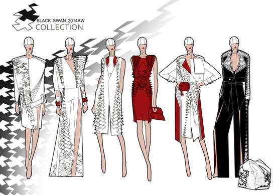 手绘创意服装设计