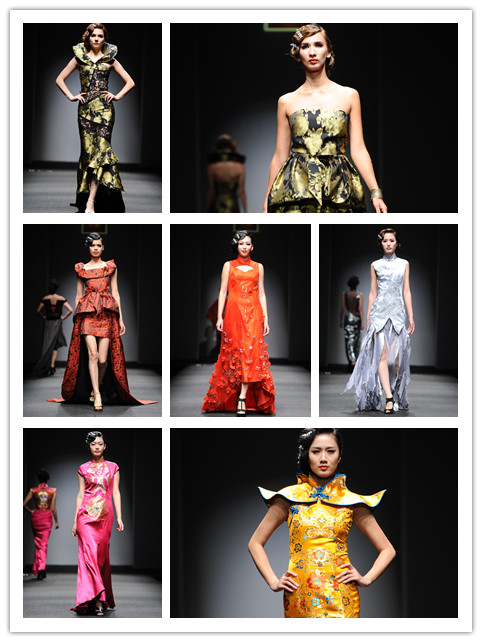 彩铅米兰手绘服装设计图展示