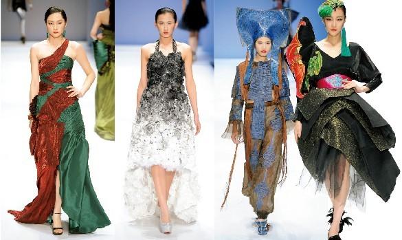 与服饰设计专业的2009服装本科班和2011服装专升本两个班的全体毕业生